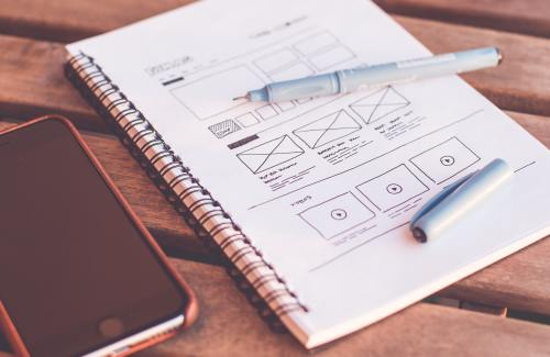 Drawing of a website template