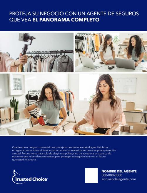 Full page business ad with 2 women