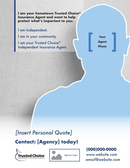 Template for agent ad with agent info