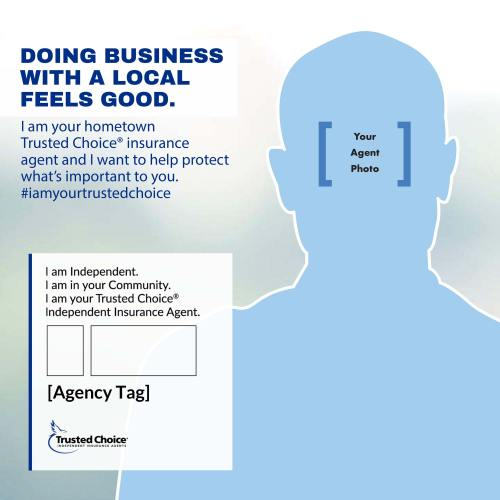 Template for agent ad with contact info