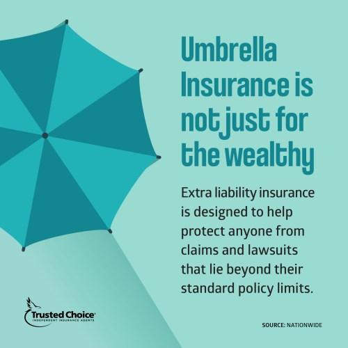 Green illustrated umbrella