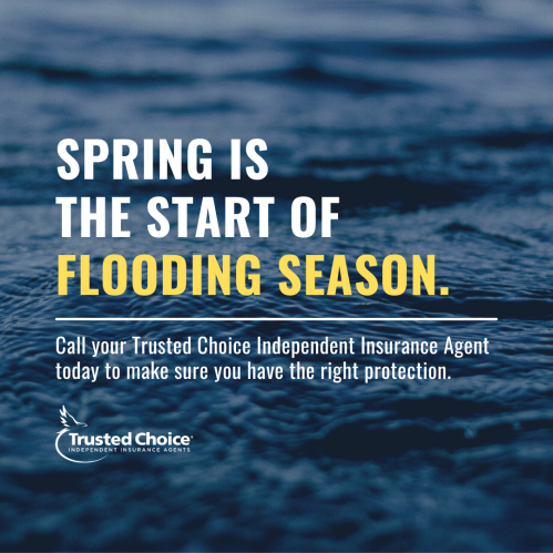 Spring is the start of flooding season with image of water
