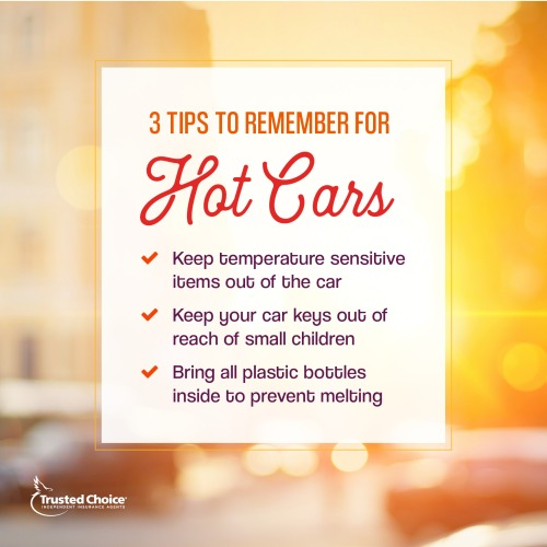 Tips for hot cars on an orange background