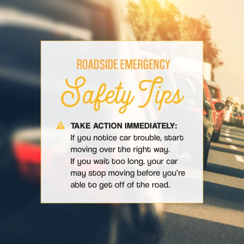 Roadside tips on a picture of cars in traffic