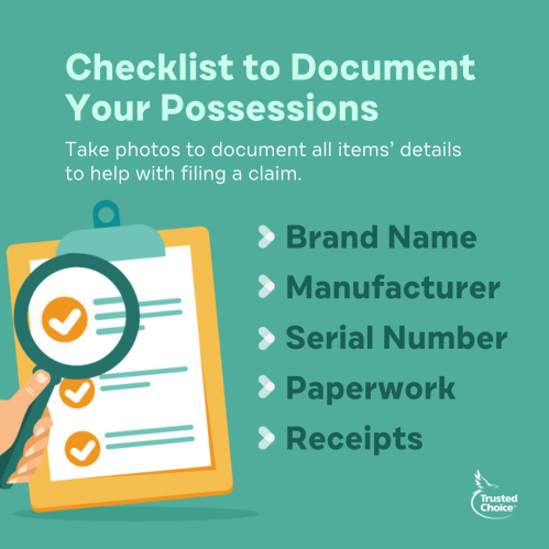 Illustration of a checklist with a magnifying glass
