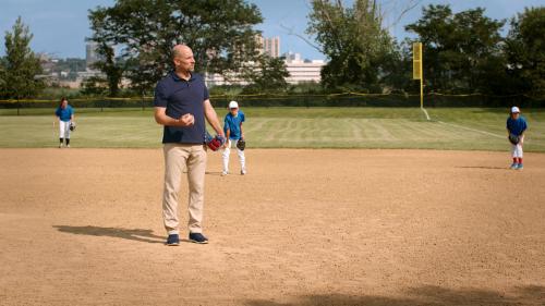John Smoltz on pitchers mound